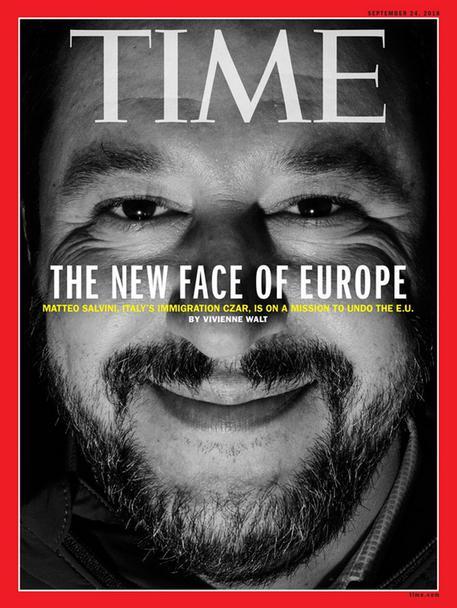 La copertina del Time dedicata a Matteo Salvini. 13 settembre 2018.