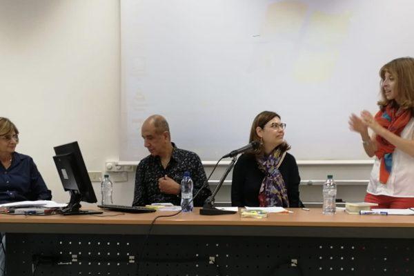 Da sinistra Sarah kaminski, Rony Someck, Giovanna Rosadini Salom e Sara Ferrari