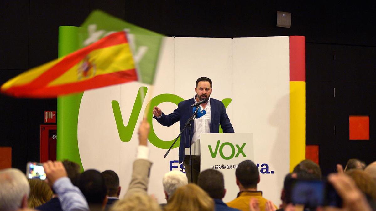 Santiago Abascal, leader del partito spagnolo di estrema destra Vox