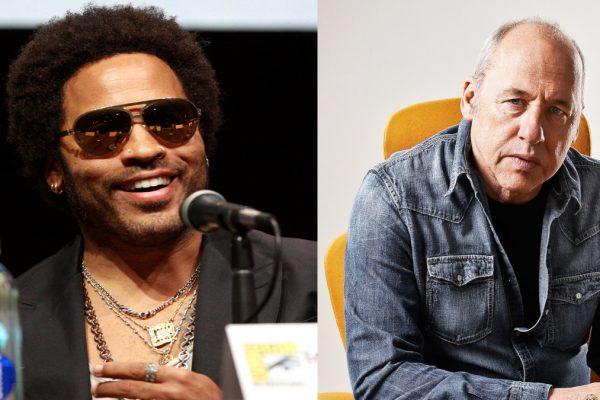 Da sinistra, Lenny Kravitz e Mark Knopfler