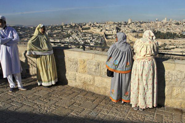 Turisti musulmani dall'India a Gerusalemme