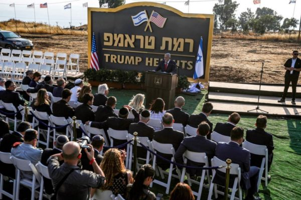 Trump Heights sulle alture del Golan
