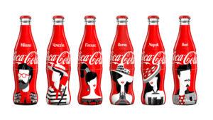 La limited edition Coca-Cola firmata da Noma Bar dedicata a sei città italiane