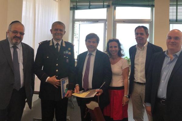 Il comandante dei Carabinieri in Comunità