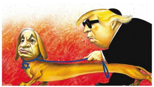 Vignetta pubblicata dal New York Times su Trump e Netanyahu