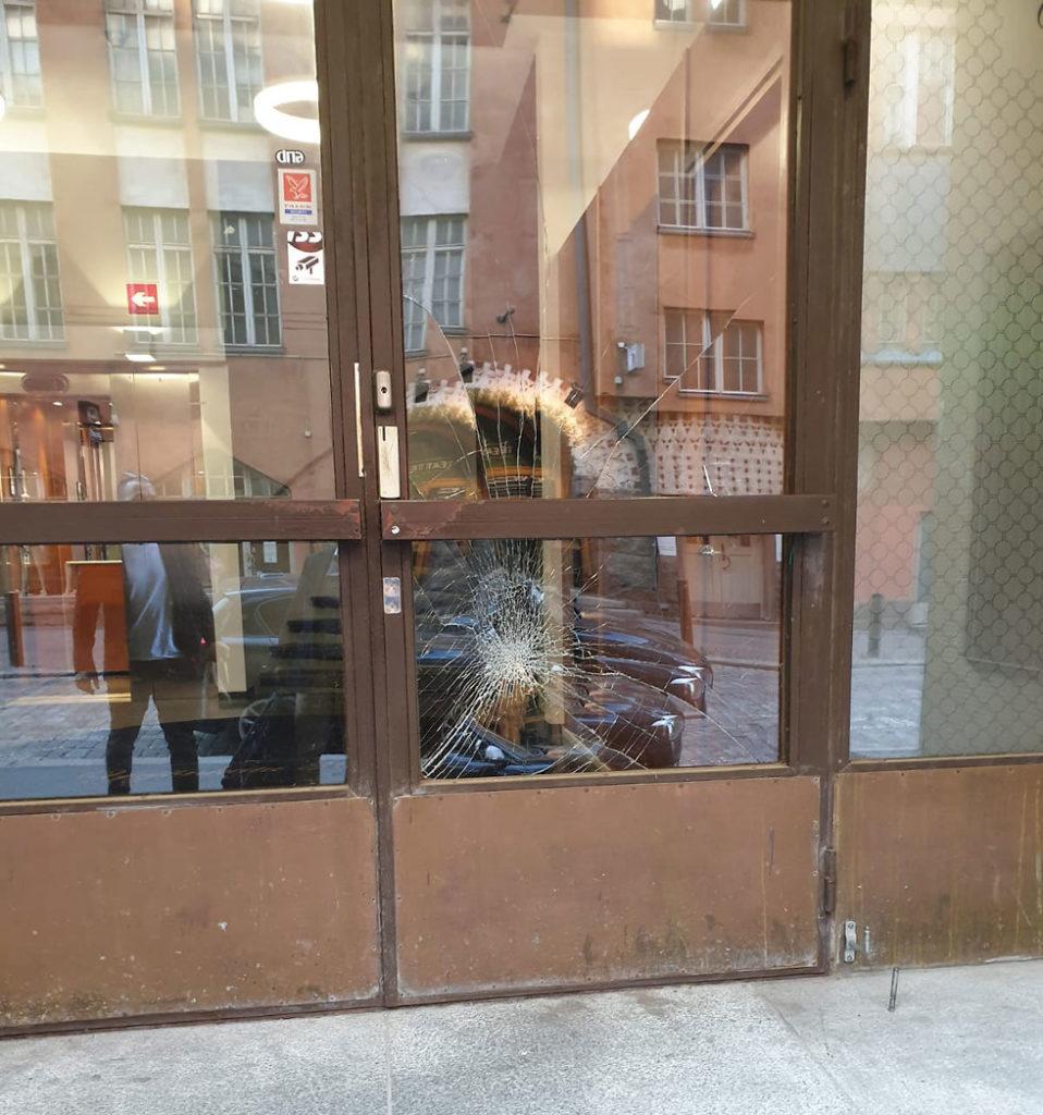 L'ambasciata israeliana di Helsinki vandalizzata