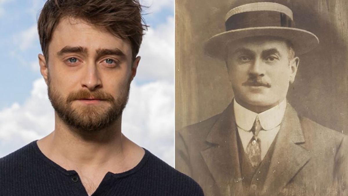 L'attore di Harry Potter Daniel Radcliffe con il suo bisnonno