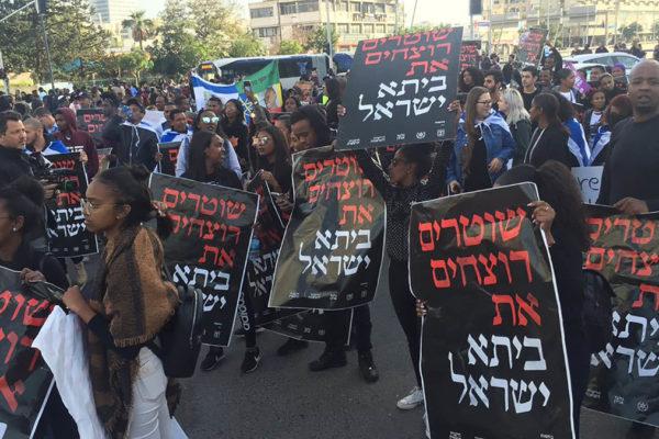 Protesta degli etiopi in Israele