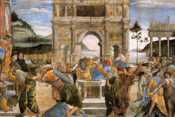 la punizione dei ribelli di Sandro Botticelli