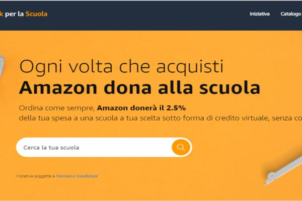 L'iniziativa 'Un click per la scuola' di Amazon