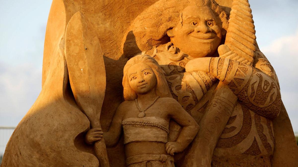 Una scultuira di sabbia al festival di Ashkelon