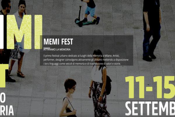 La locandina del MEMI, festival dedicato ai luoghi della memoria
