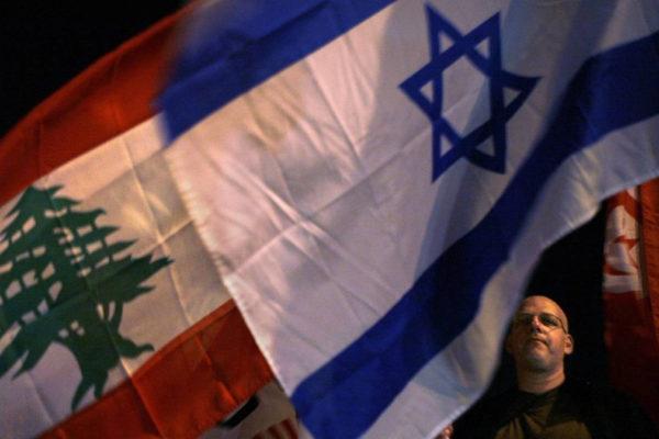 Bandiera di Israele e del Libano