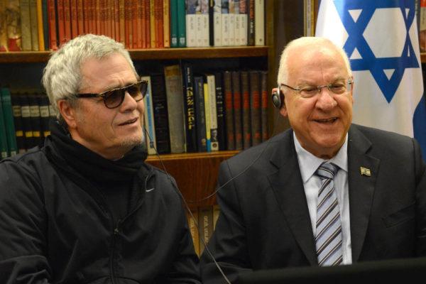 Reuven Rivlin e il cantante Shlomo Artzi, protagonista della musica israeliana