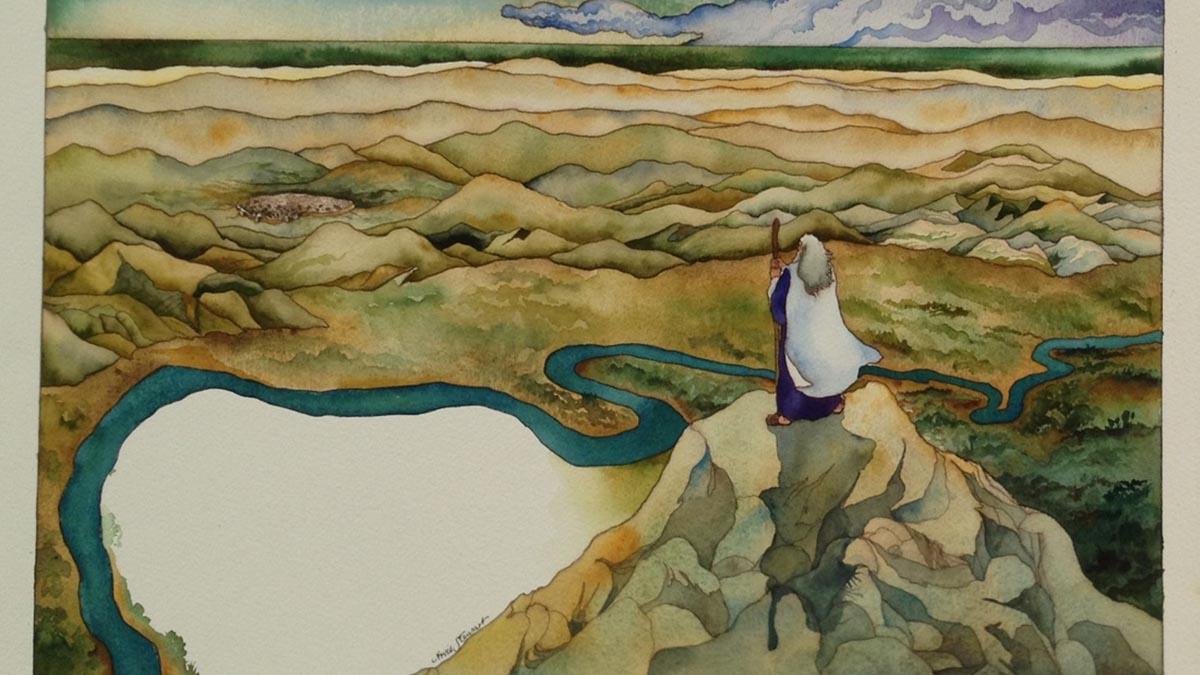 Mosè guarda da lontano la Terra Promessa