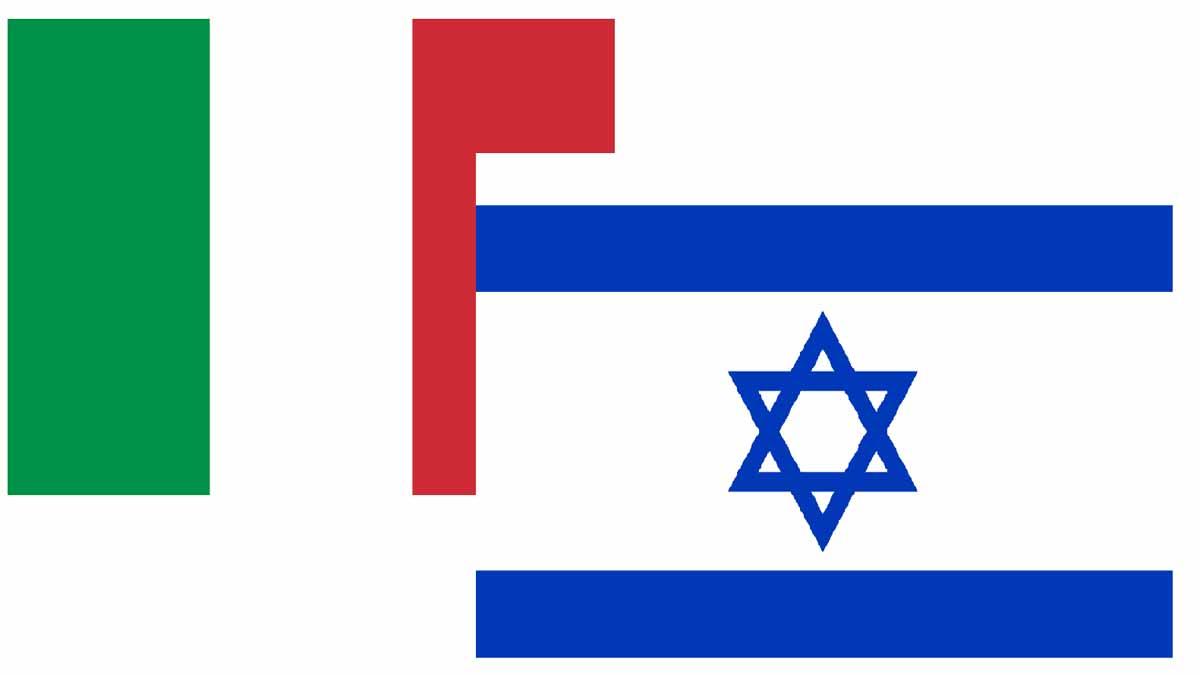 Le bandiere di Italia e Israele