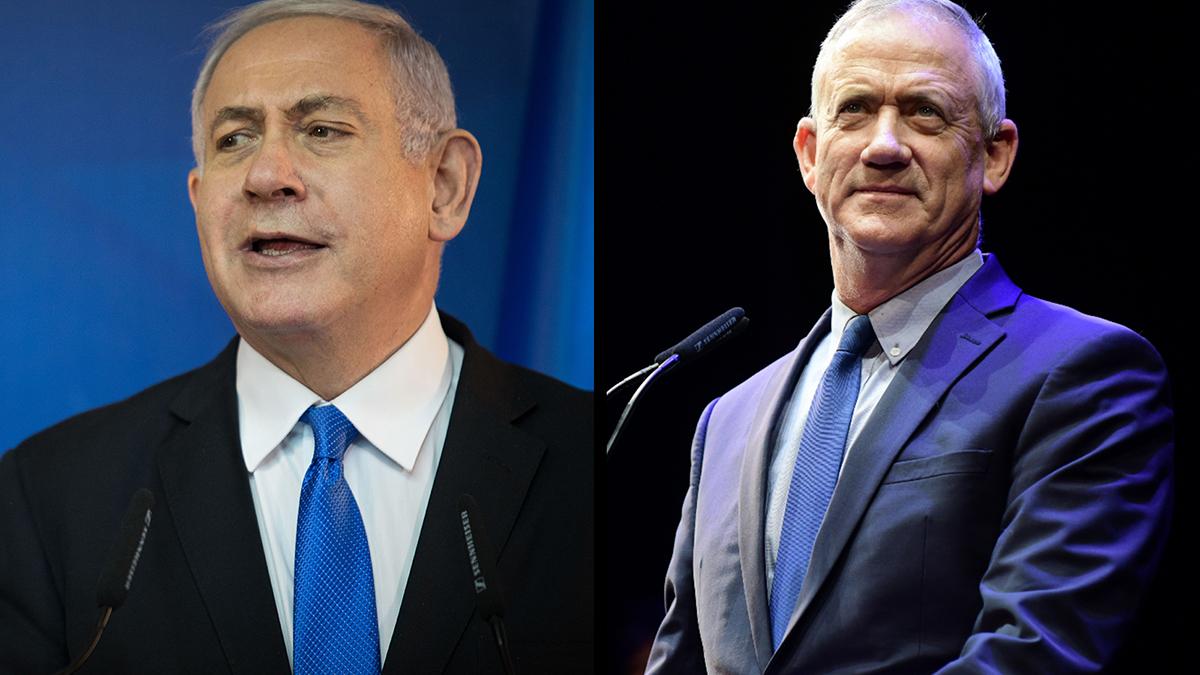 beniamin Netanyahu e Benny Gantz
