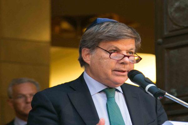 Il presidente della Comunità ebraica di Milano Milo Hasbani
