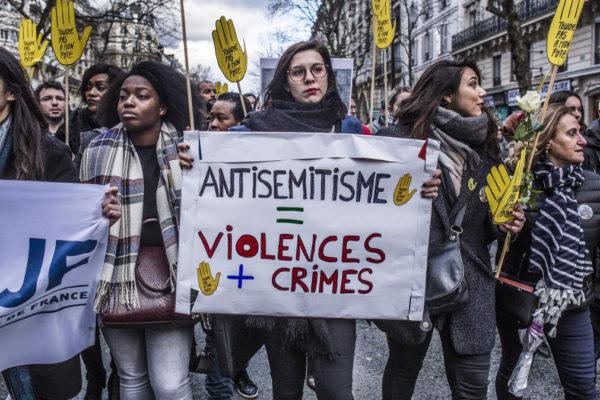 manifestazione contro l'antisemitismo in Francia
