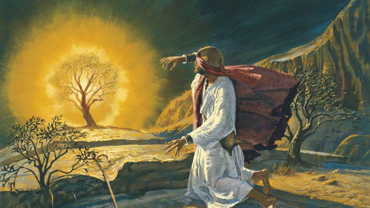 Mosè davanti al roveto ardente