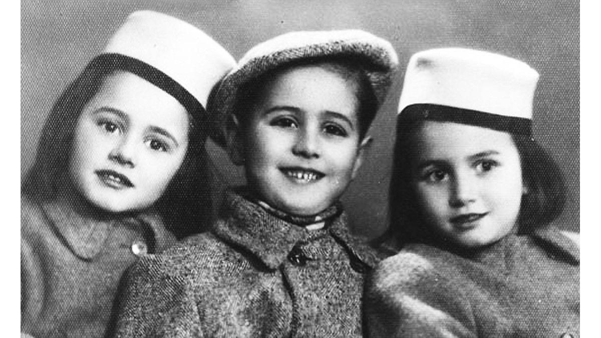 le sorelle Bucci con il cugino