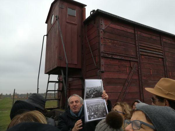 Marcello Pezzetti ad Auschwitz-Birkenau