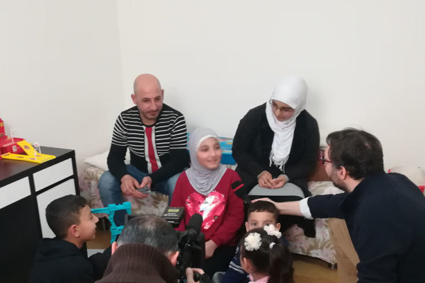 famiglia siriana milano