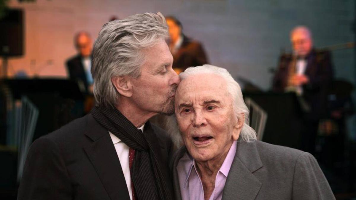 Kirk Douglas con il figlio Michael