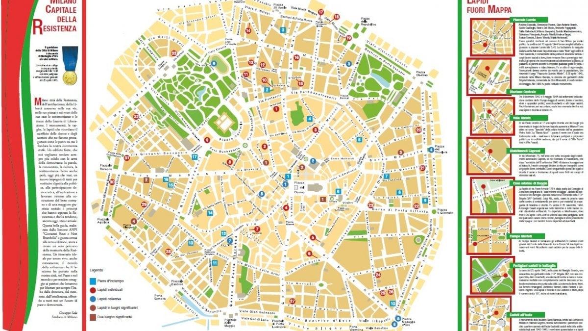 La mappa delle lapidi e pietre d'inciampo a Milano