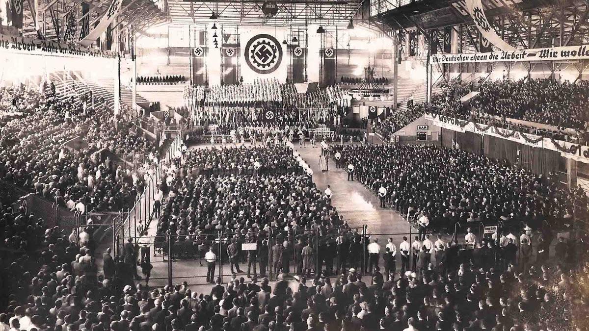 manifestazione nazista a Buenos Aires nel 1938