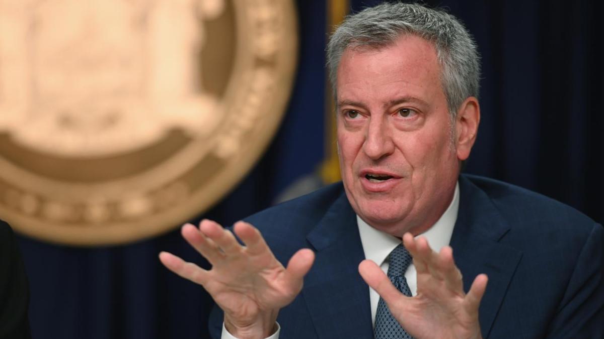 Il sindaco di New York Bill De Blasio