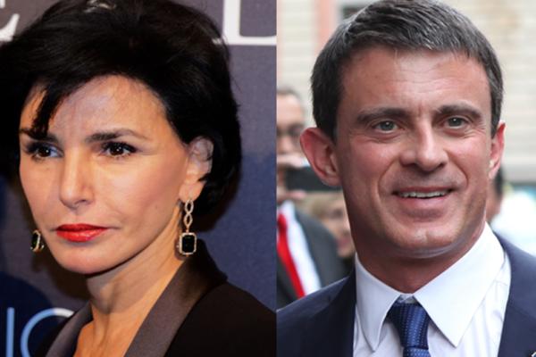Da sinistra, rachida dati e Manuel Valls