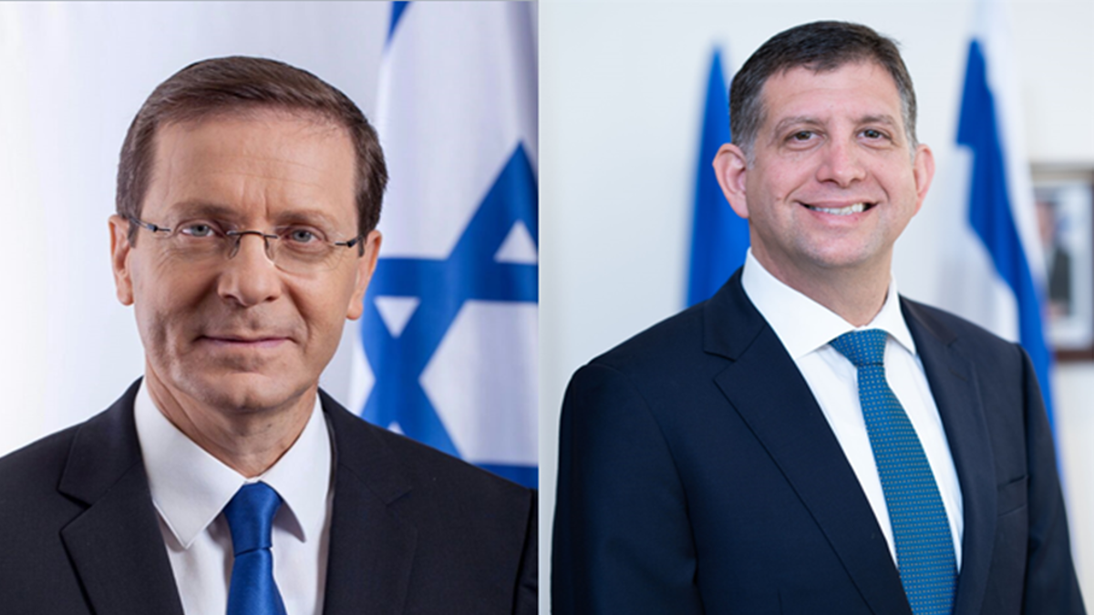 Da sinistra, Isaac Herzog (Sgenzia ebraica) e sam Grundwerg (Keren Hayesod)