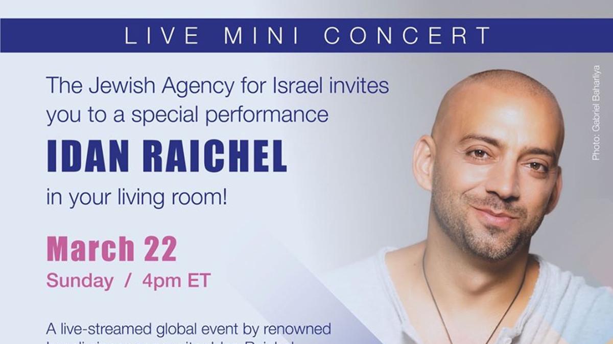 locandina del concerto online di Idan Raichel