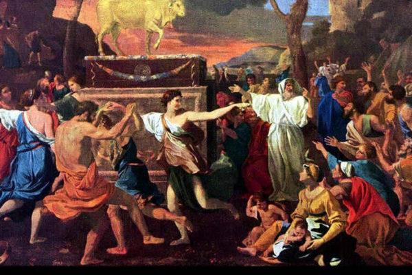 Gli ebrei costruiscono il vitello d'oro