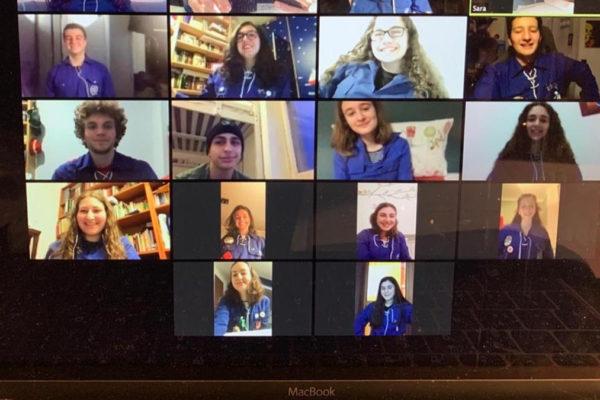 Una moetzet (incontro organizzativo) su zoom dei ragazzi dell'Hashomer Hatzair