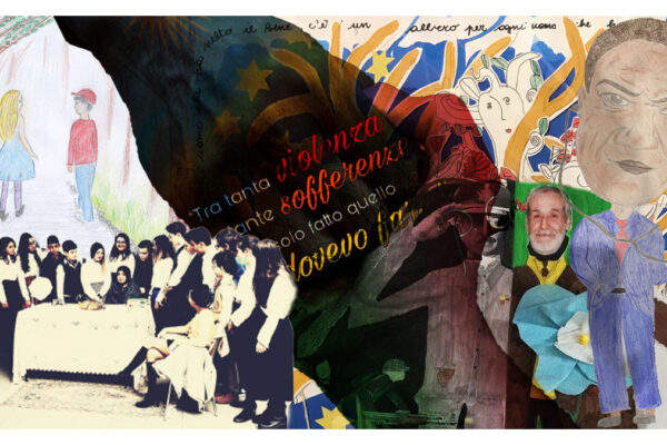 Un collage di una scuola per il concorso 'Adotta un Giusto'