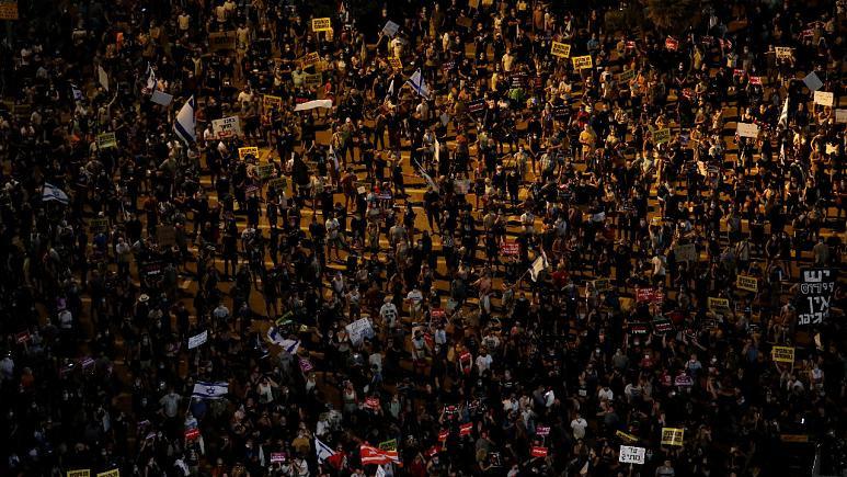 Manifestazione di protesta a Tel Aviv l'11 luglio 2020