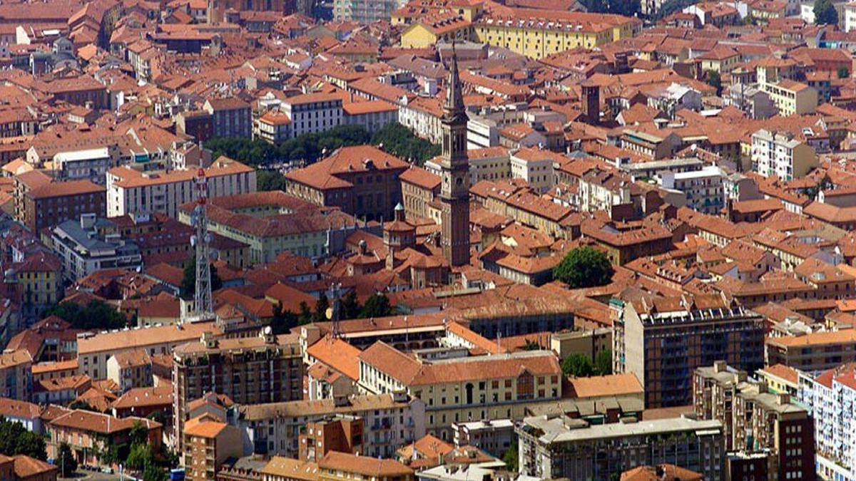 Panorama dall'alto di Alessandria