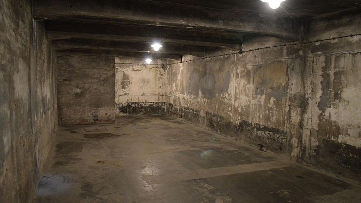 Una camera a gas di Auschwitz