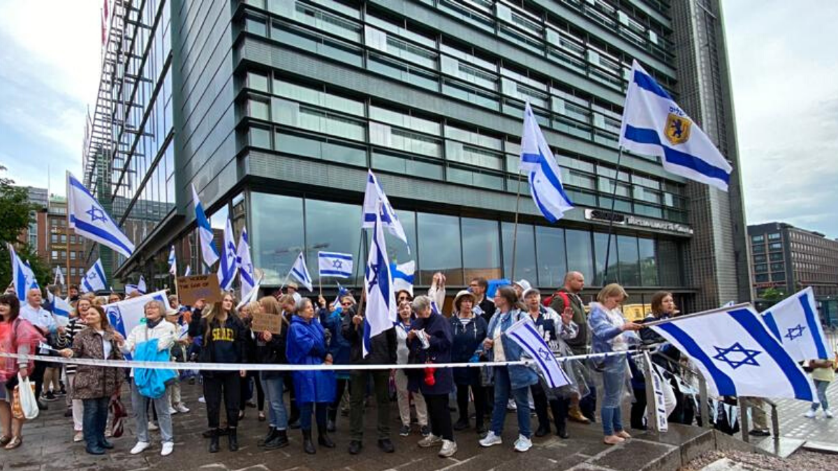 proteste pro Israele Finlandia