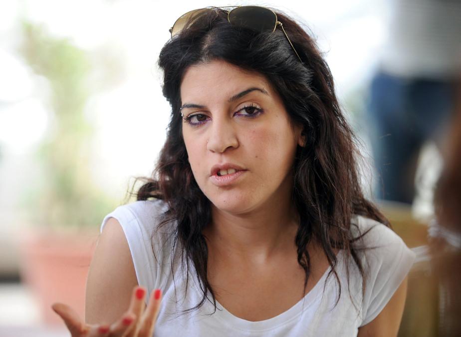 La blogger Lina ben Mhenni onorata al Giardino dei Giusti di Tunisi