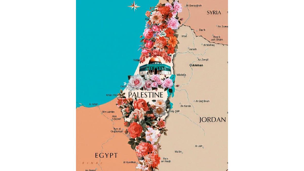 Israele Palestina Cartina.Si Intitola Palestina La Mappa Di Israele Pubblicata Da Vogue Arabia Mosaico