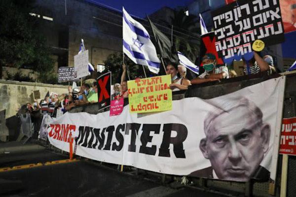 Proteste contro la gestione del governo Netanyahu della crisi da Covid-19