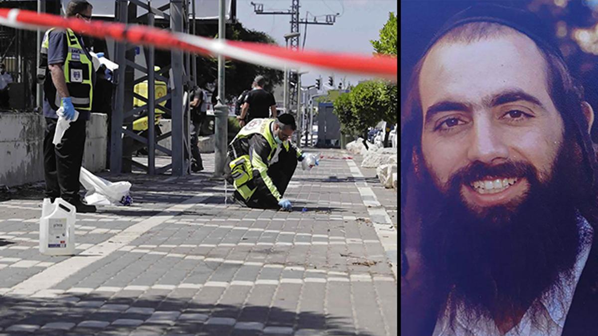 Il luogo dell'attentato in cui è morto Rav Hayon