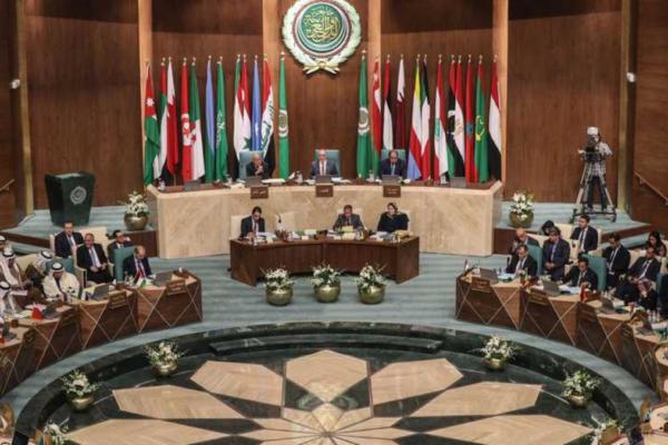 membri della lega araba seduti in riunione