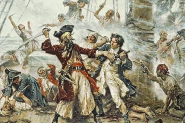 Pirati nel dipinto di Jean Leon Gerome Ferris