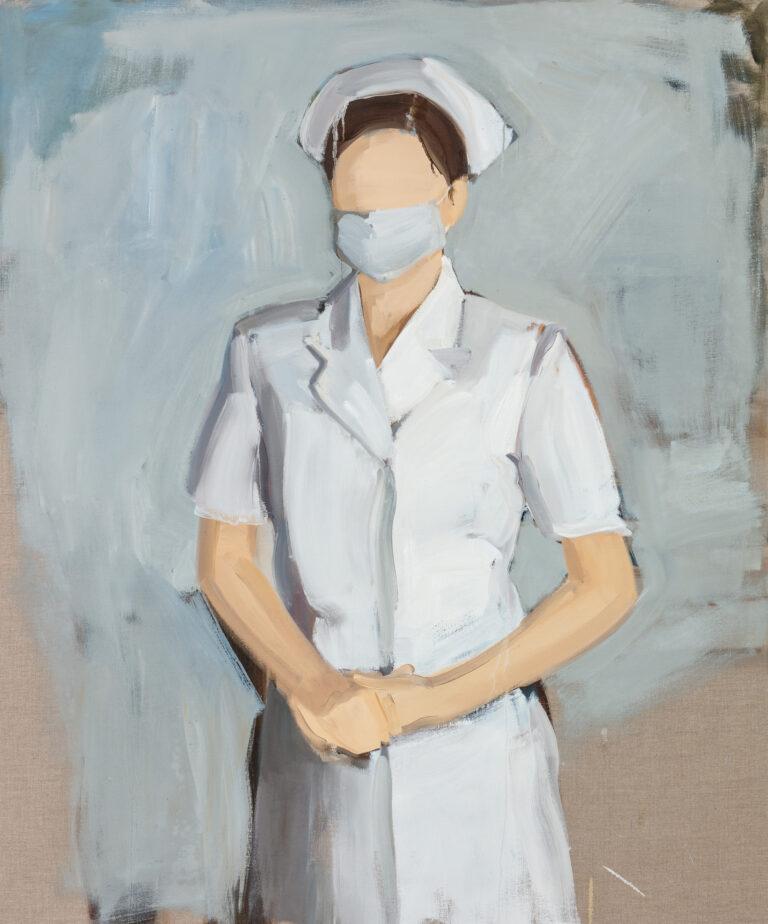 L'infermiera.,, olio su lino, di Gideon Rubin