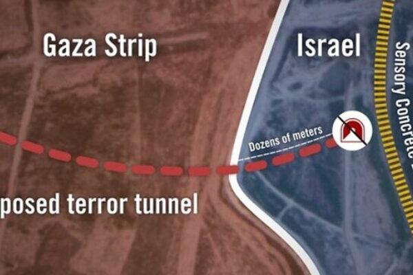 Tunnel scavato da Hamas fra Gaza e Israele