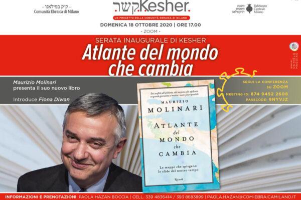 locandina dell'evento kesher con Maurizio Molinari